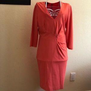 Beautiful draped 3/4 sleeves Escada dress